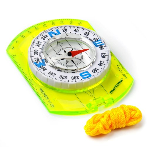 COMPASS METEOR WITH RULER, WHITE DISC